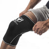 black-white knee support sleeves how to put on
