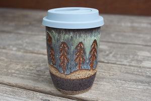 Crescent Moon in a Distant Forest Travel Mug, 15 oz