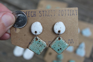 Two Piece Hanging Studs - Various Sizes and Colors