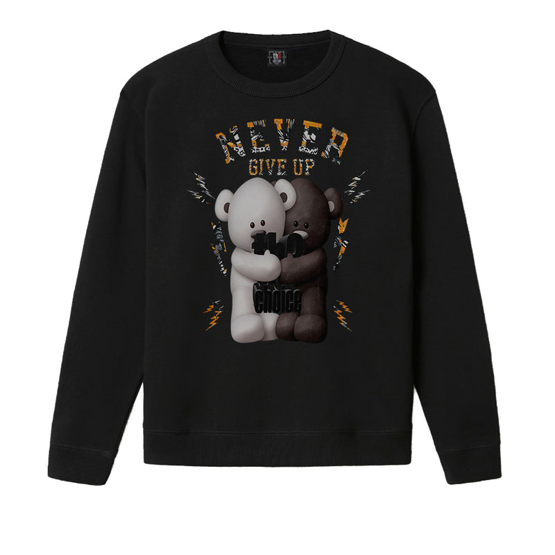 Sudadera Negra Never Give Up