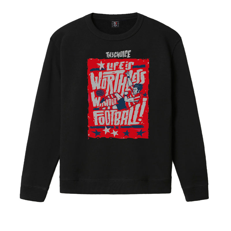 Sudadera Negra Life is Football