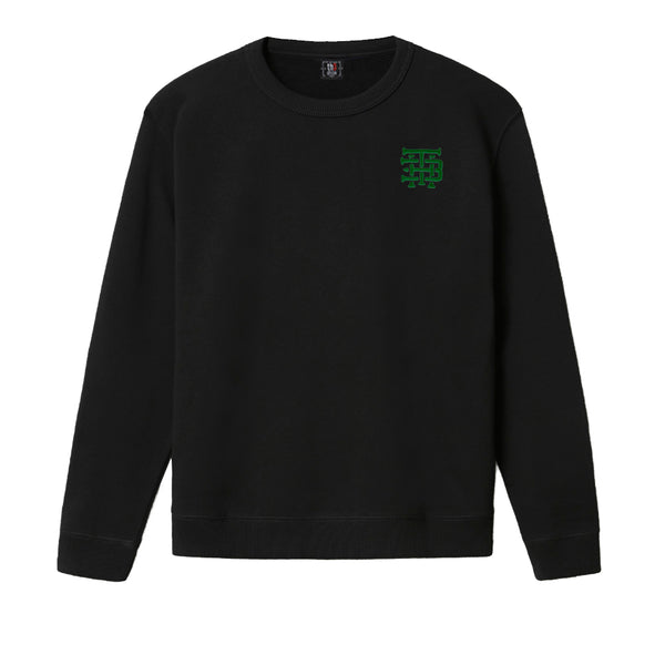 Sudadera Negra Green Embroidered Logo