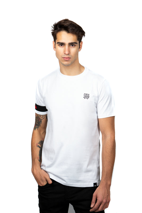 Camiseta Blanca Embroidered Logo