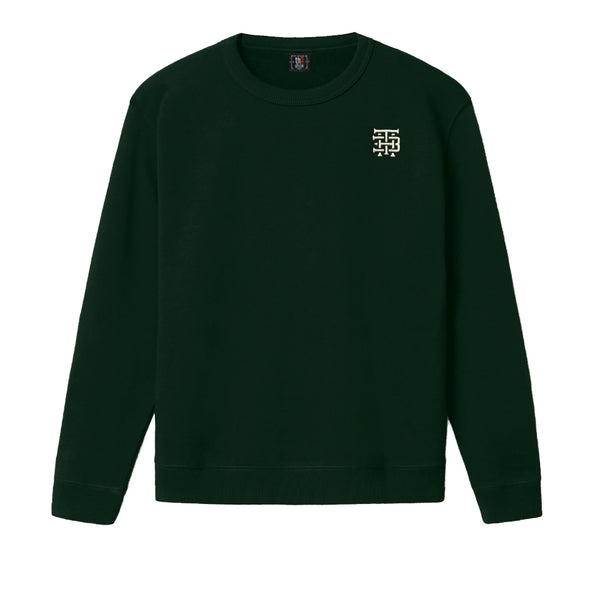 Sudadera Verde Embroidered Logo