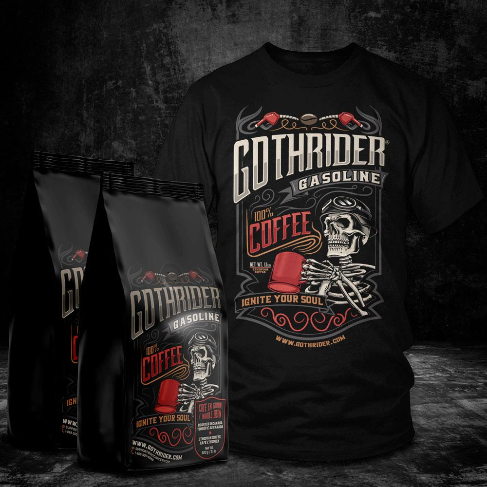 Gasoline Coffee T-Shirt Kit - GothRider®
