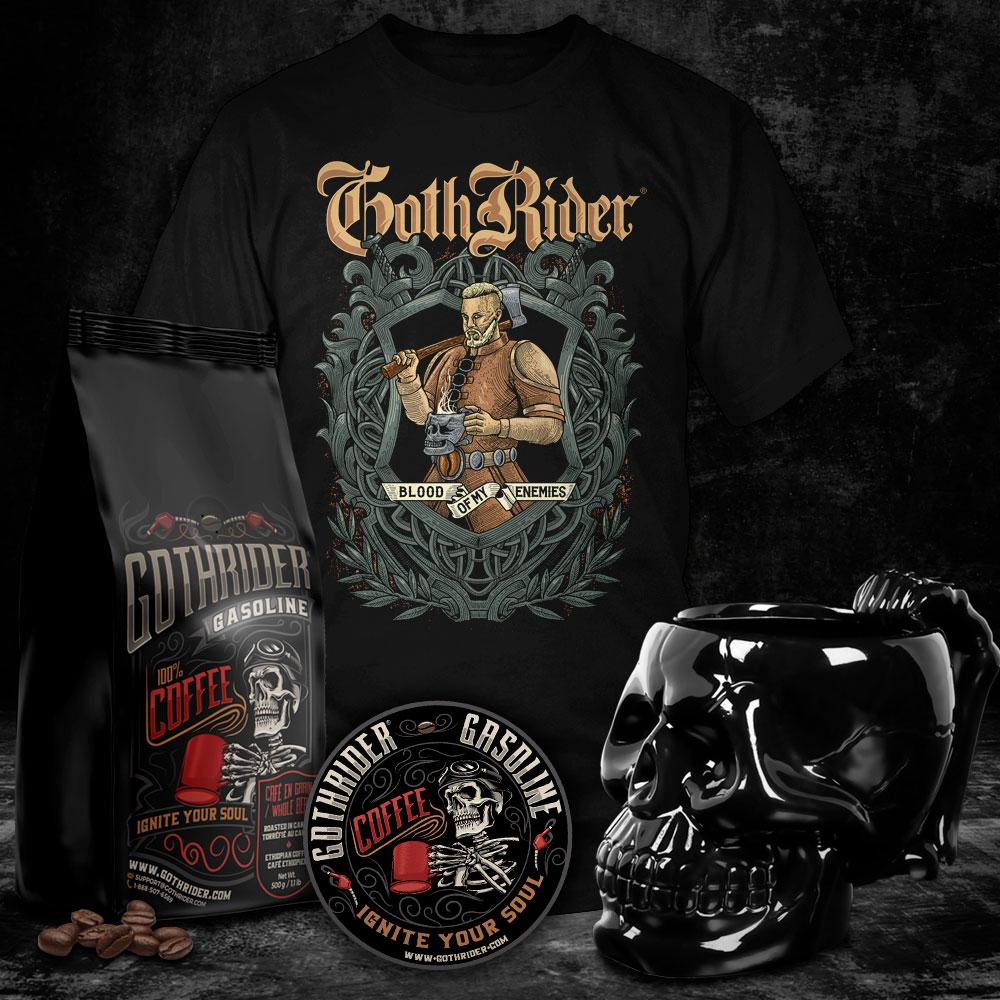 Gasoline Coffee Viking Skull Kit - GothRider®