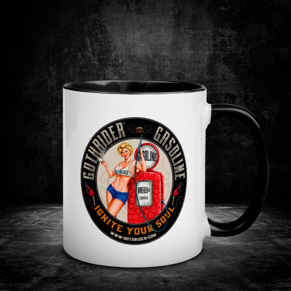 GothRider Gasoline Blondie Pin-Up Mug - GothRider®