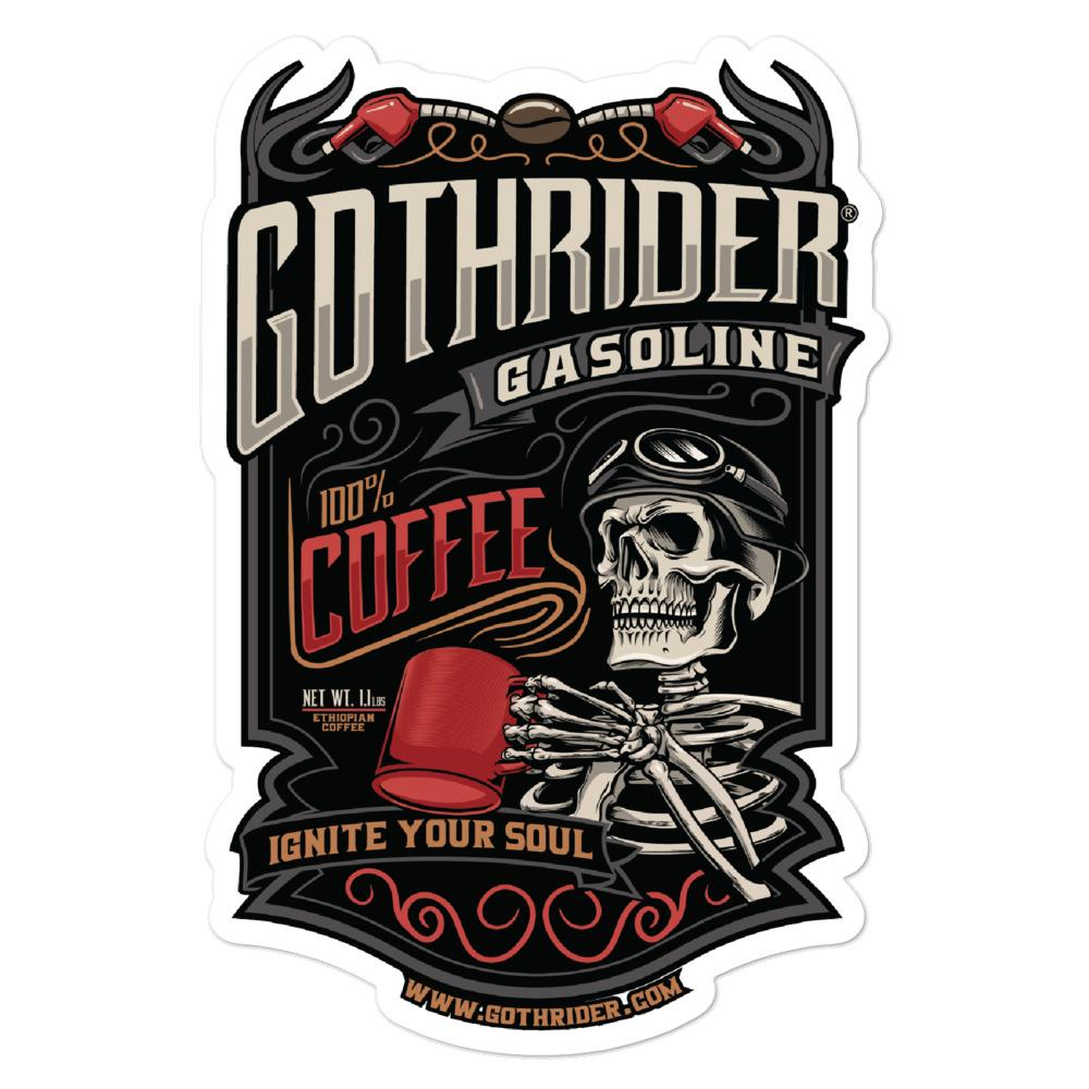 GothRider Gasoline Coffee Super Sized Sticker - GothRider®