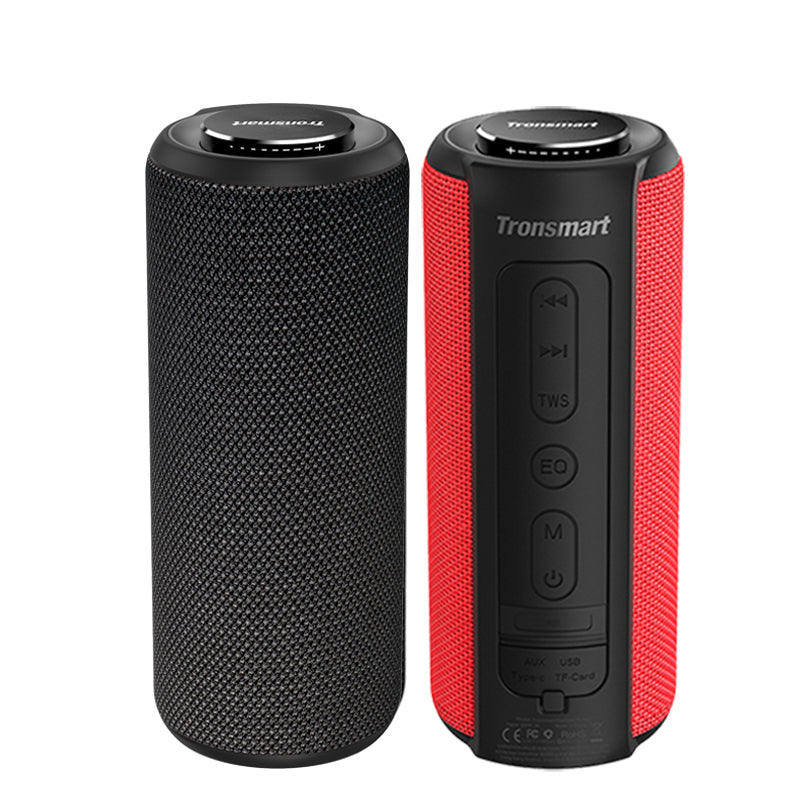 Tronsmart T6 Plus Bluetooth Speaker 40W Portable Speaker Deep Bass Sound bar with IPX6 Waterproof, Power Bank Function