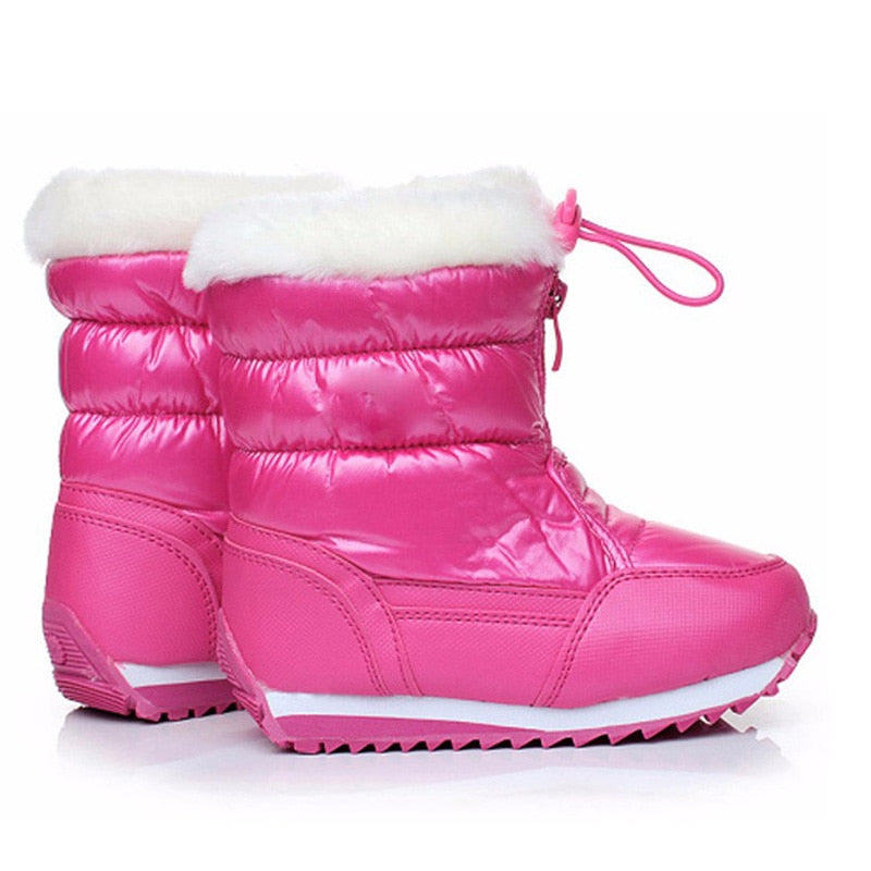 Kids Winter Snow Boots Warm Waterproof Girls Snow Winter Shoes Skid Proof Children Boots