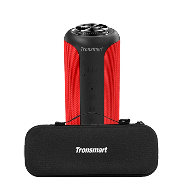 Tronsmart T6 Plus Bluetooth 5.0 Speaker 40W Portable TWS Speaker IPX6 Column with NFC,TF Card, USB Flash Drive