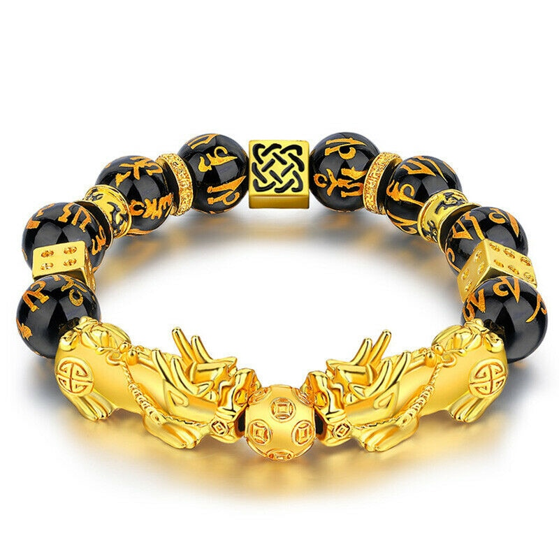 Pixiu Guardian Bracelet Bring Luck Wealth Beads Strand Bracelets Chinese Fengshui Wristband Unisex Lucky Wealthy Men Women