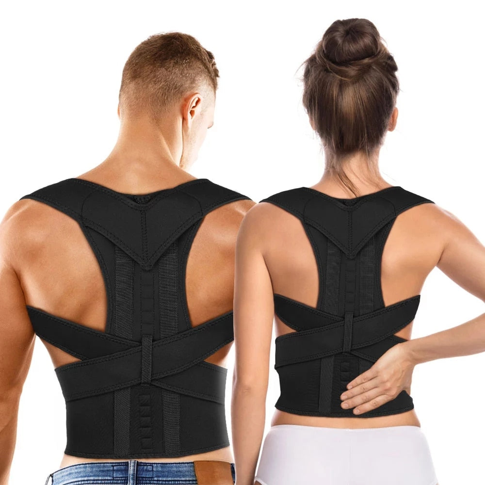 Aptoco Magnetic Therapy Posture Corrector Brace Shoulder Back Support Belt Braces & Supports Belt