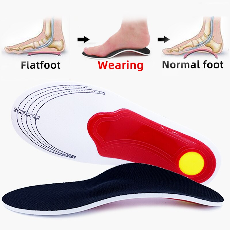 Premium Orthotic High Arch Support Insoles Gel Pad 3D Arch Support Flat Feet For Women / Men orthopedic Foot pain