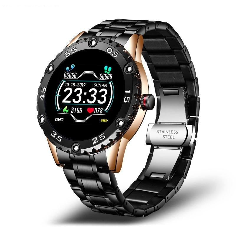 Steel Digital Watch Men Sport Watches Electronic LED Heart rate blood pressure Male Wrist Watch For Men Clock Wristwatch + box