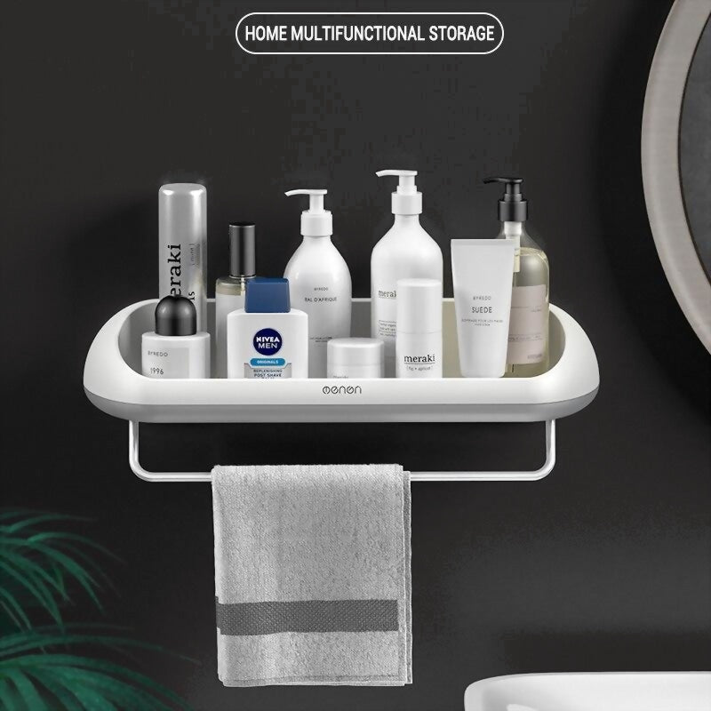 Wall Storage Shelf Rack for Kitchen Goods Bathroom Organizer Accessories Bath Toilet Sink Wall Towel Makeup Storage Shelfs