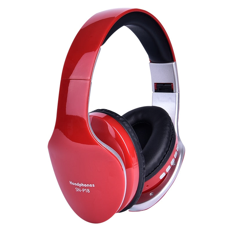 Exquisite Big Soft Earmuff Wireless Headphone Foldable Bluetooth Headset Stereo Game Earphone For Mobile Phone & Support TF Card