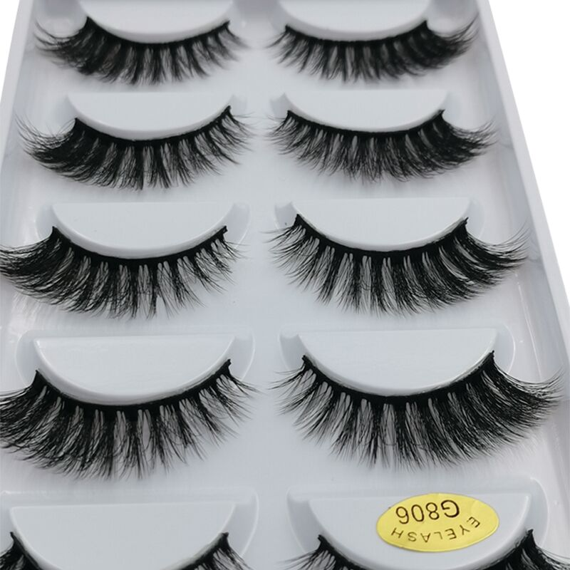 Thick 3D Mink Lashes False Eyelashes Natural Long Fake Lashes Handmade Mink Eyelashes Extension