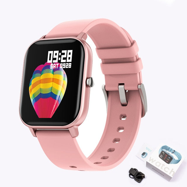 P8 Color Screen Women & men Full Touch Fitness Tracker Blood Pressure Smart watch for Xiaomi