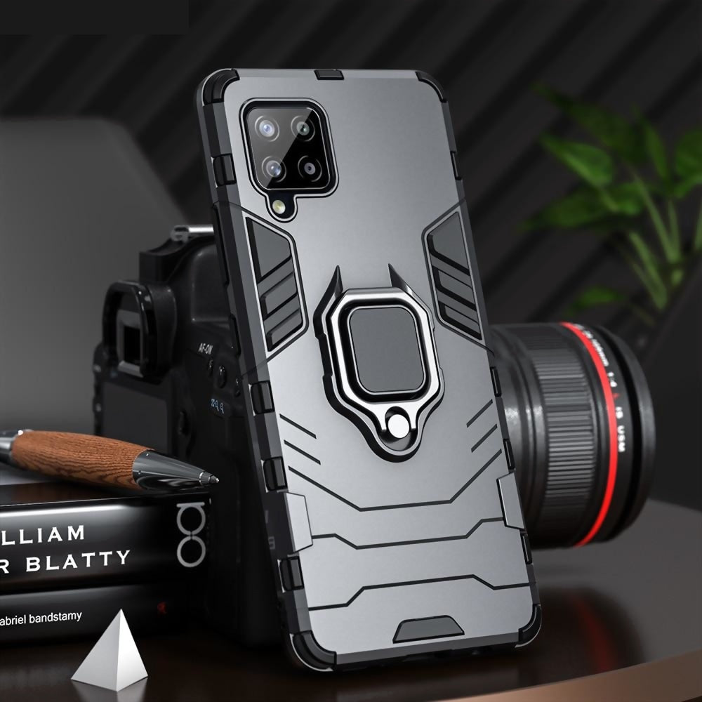 Shockproof Armor Case Samsung A12 A42 A32 A52 5G Ring Stand Phone Back Cover & Galaxy Versions