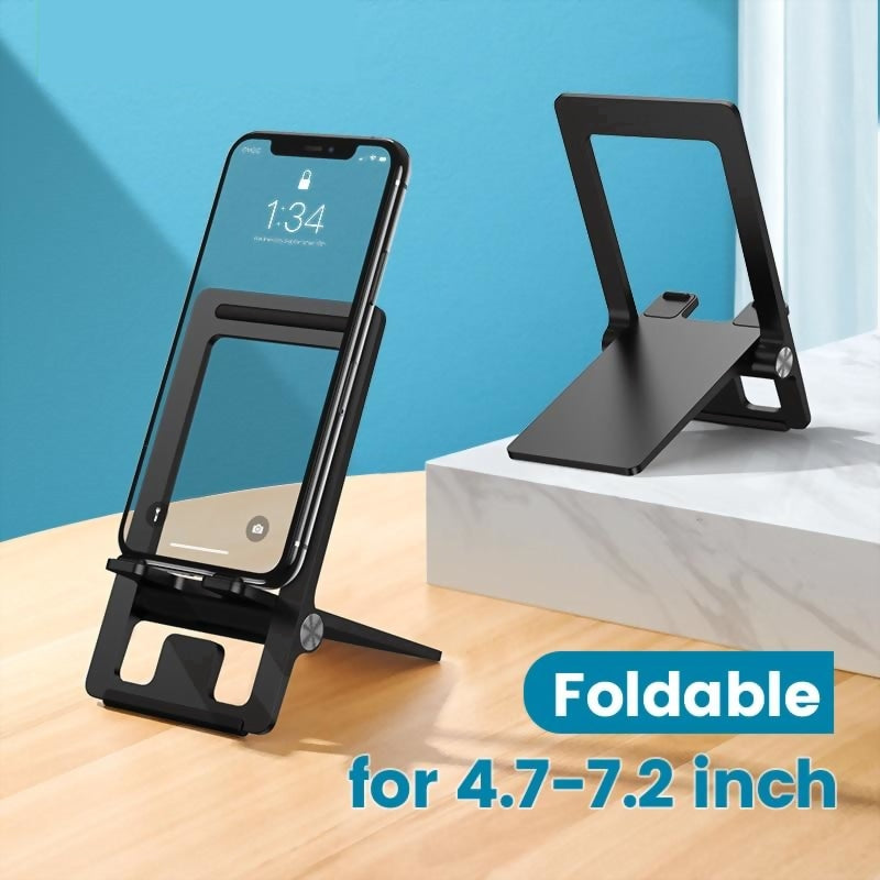 Cell Phone Stand Desk Adjustable Phone Holder Dock iPhone Samsung Foldable Mobile Phone Holder Stand