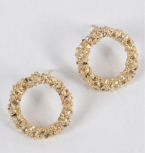 S Dot Earrings (Gold)