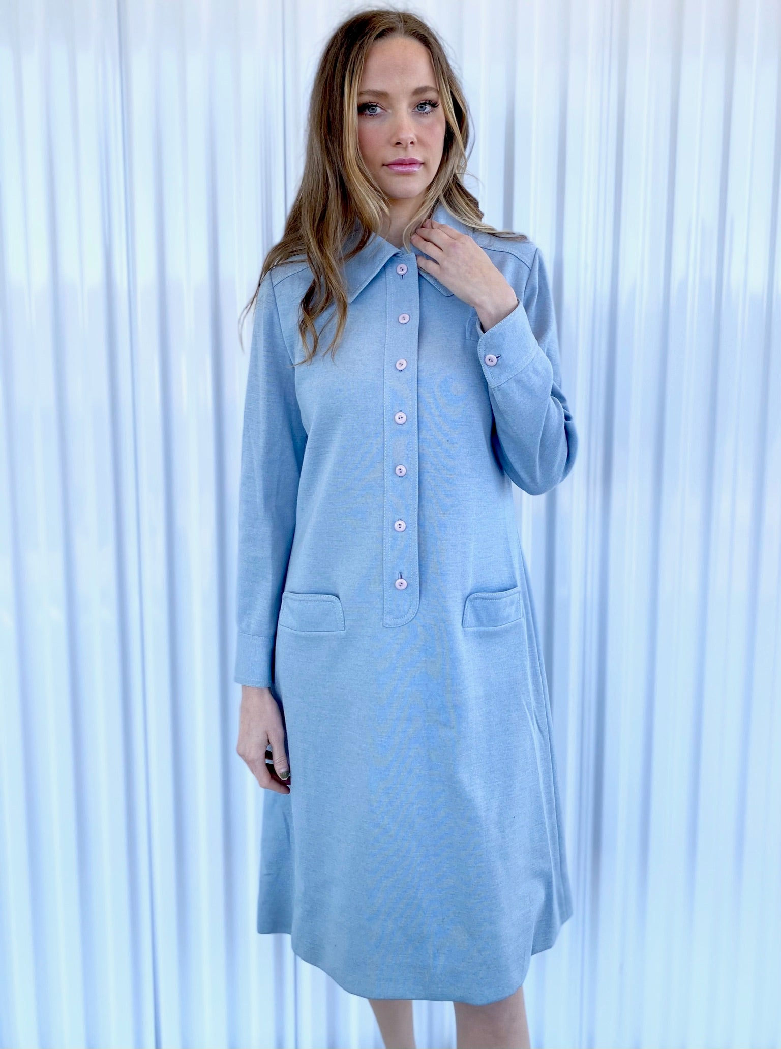 Ciao Ltd Wool Collared Shift Dress
