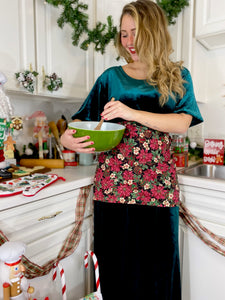 Poinsettia Full Apron