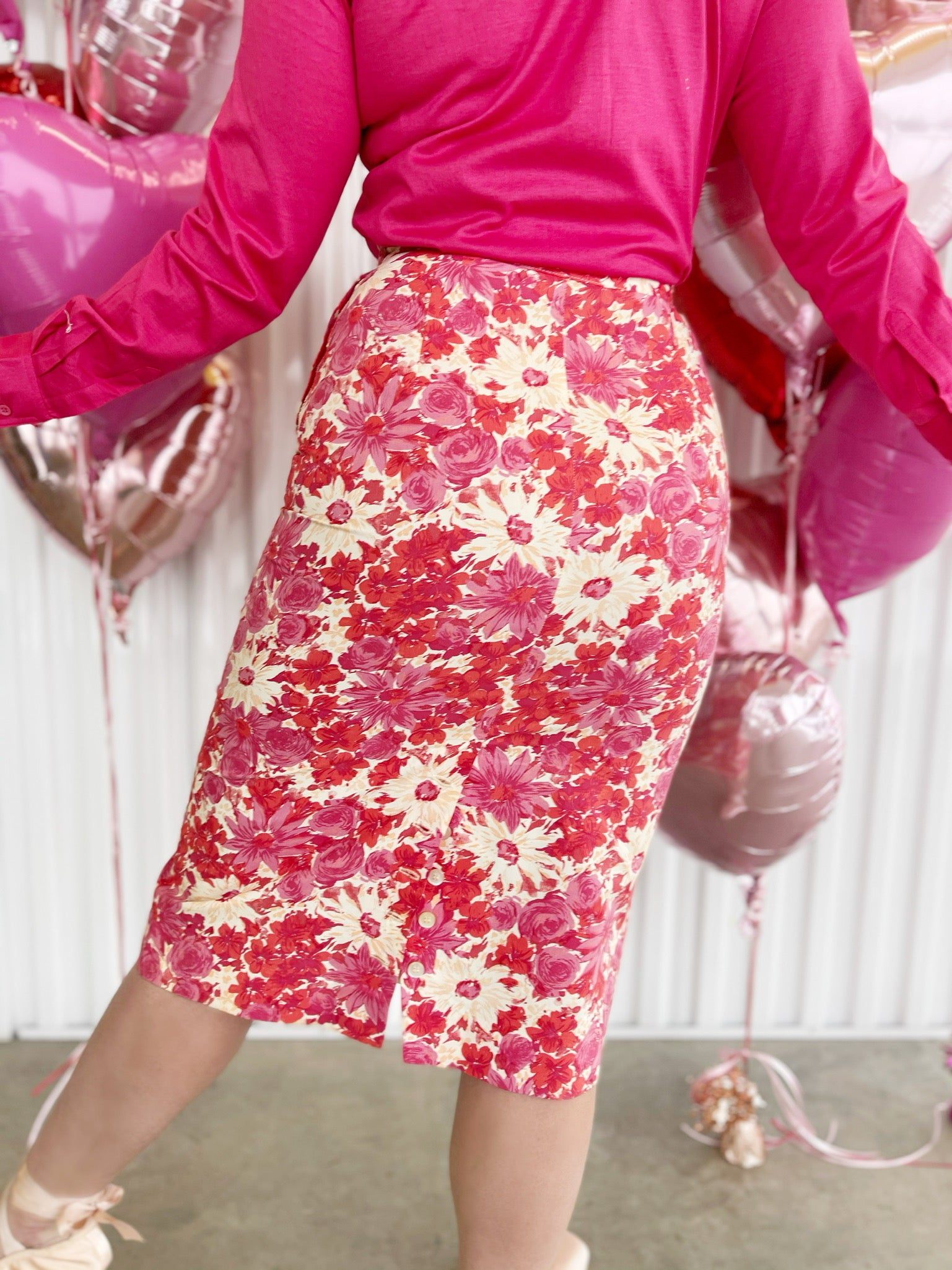 Koret Floral Pencil Skirt