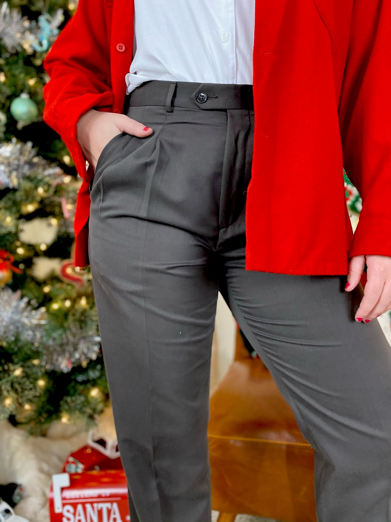 Trousers with Flat Front Pockets (33)