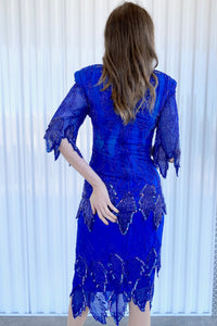 Blue Beaded 2pc
