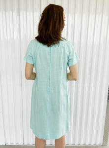 Shift Dress with Circles Pattern