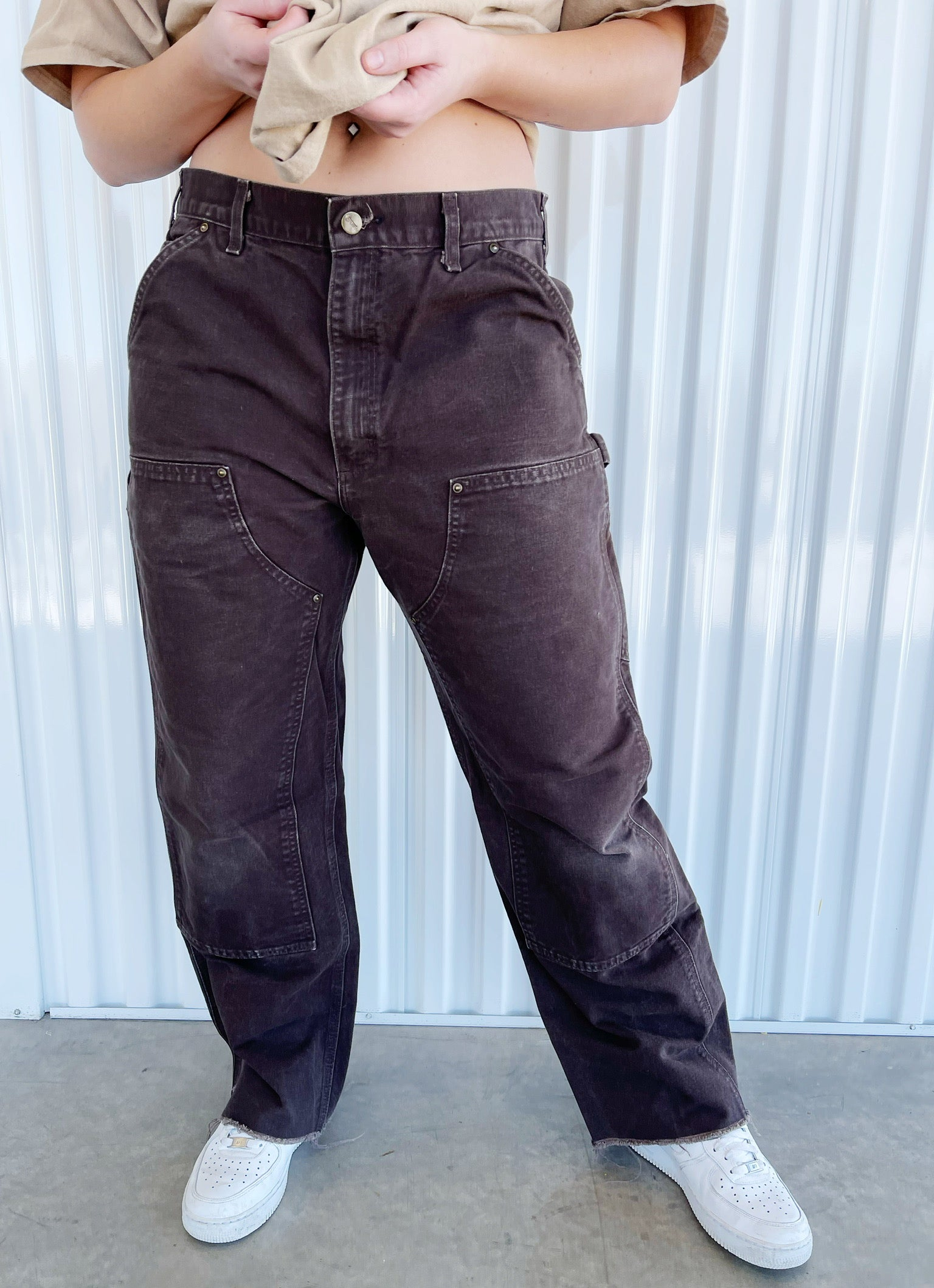 Carhart Brown Paneled Pants (36)