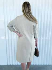 Classic Lady Khaki 2pc with Peach Lining