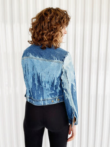 Drip Bleach Dyed Denim Jacket (10)
