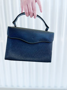 Theodor Black Leather Box Bag