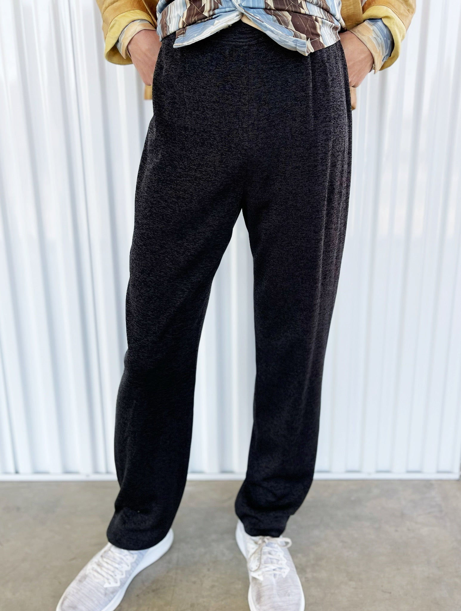 Misook Charcoal Knit Pants (M)