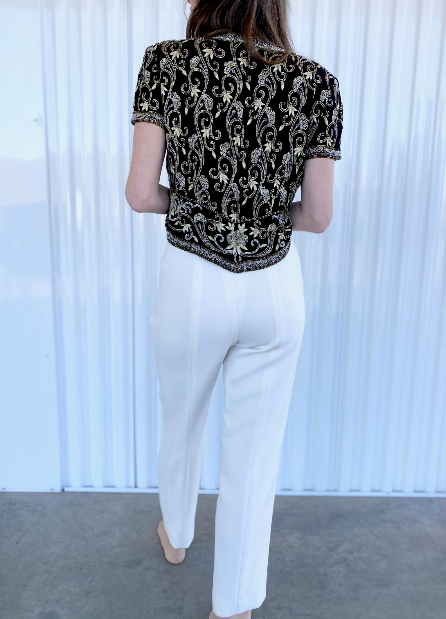 Escada Cream Trousers (40)