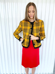 Bill Blass Plaid Blazer