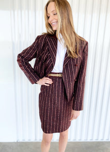 Carolina Herrera Striped Blazer with Leather Elbow Patches (14)