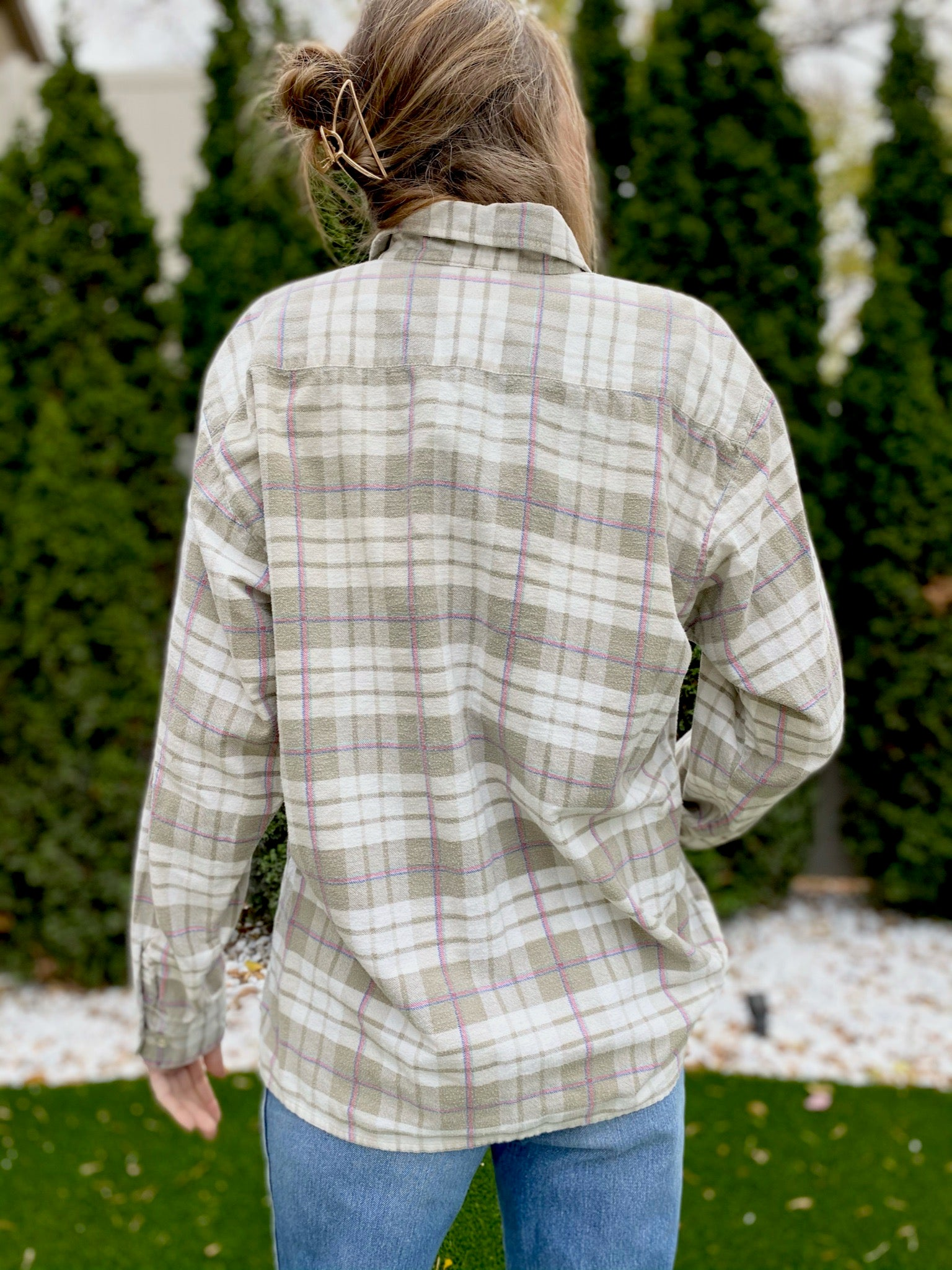 Dickies Cotton Plaid Button Up (L)