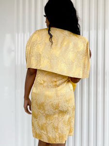 Brocade Dress with Shawl
