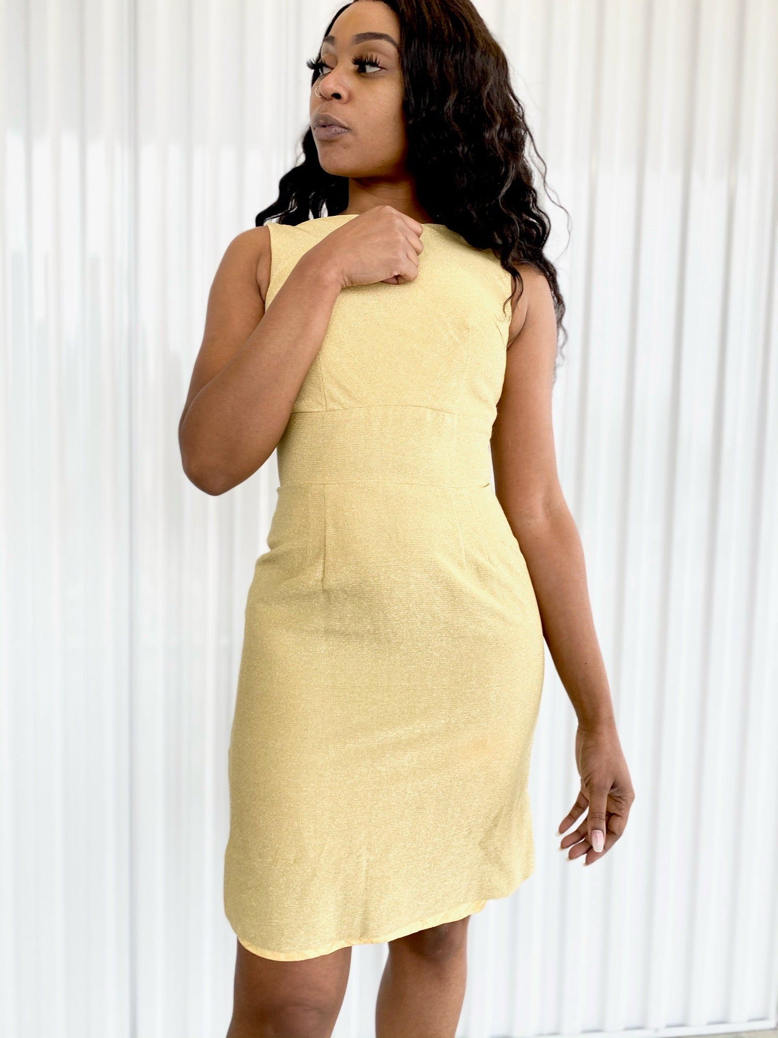 Gold Sleeveless Dress