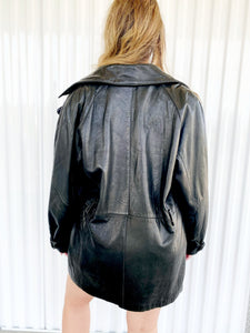 Oversized Leather Jacket (L)
