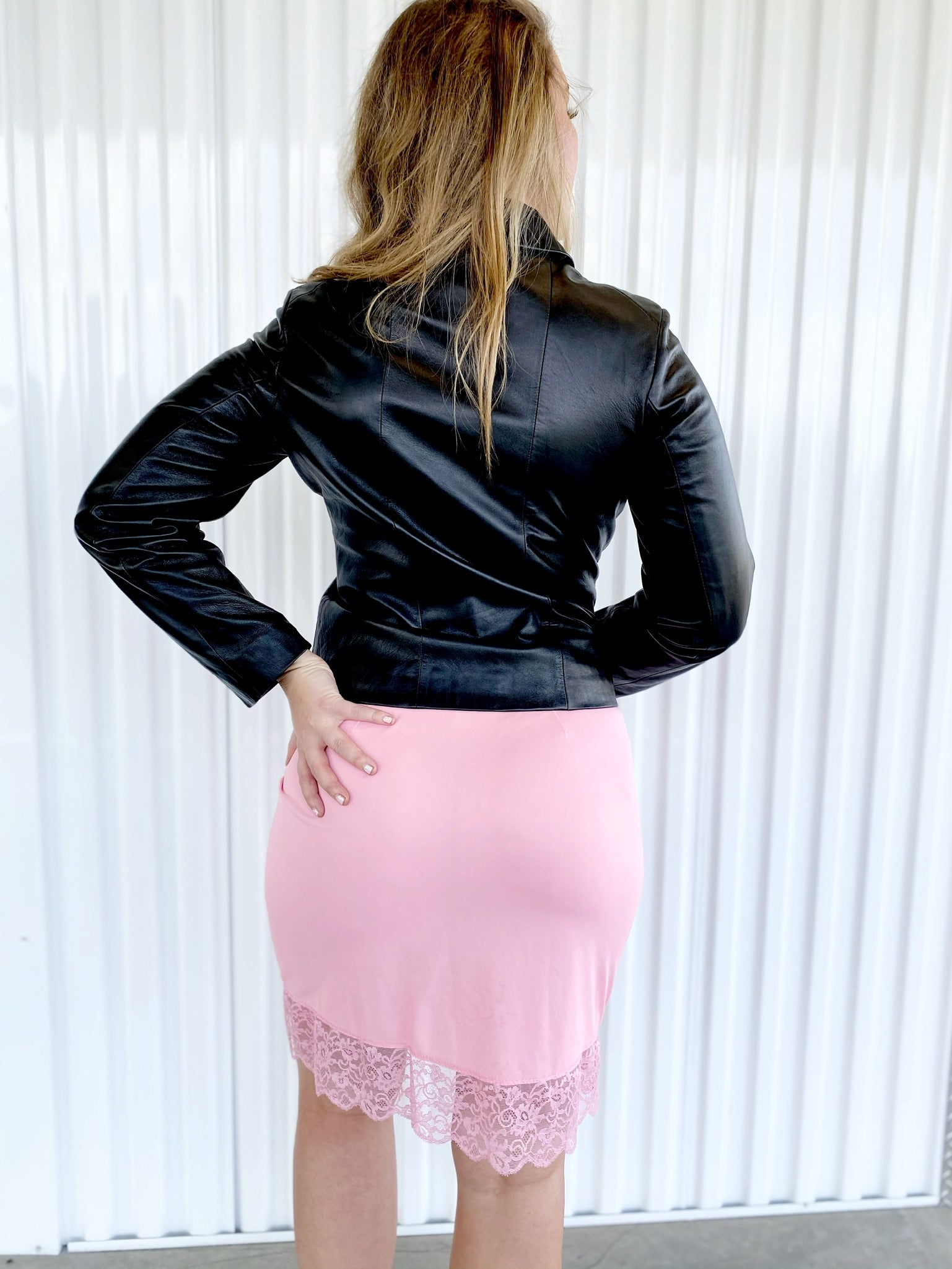 Leather Zip Up Jacket (M)