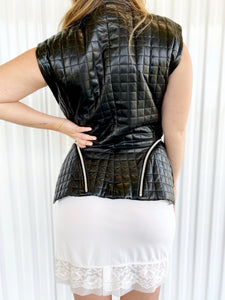 Issey Miyake Quilted Leather Vest