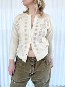 Beaded Floral Cardigan
