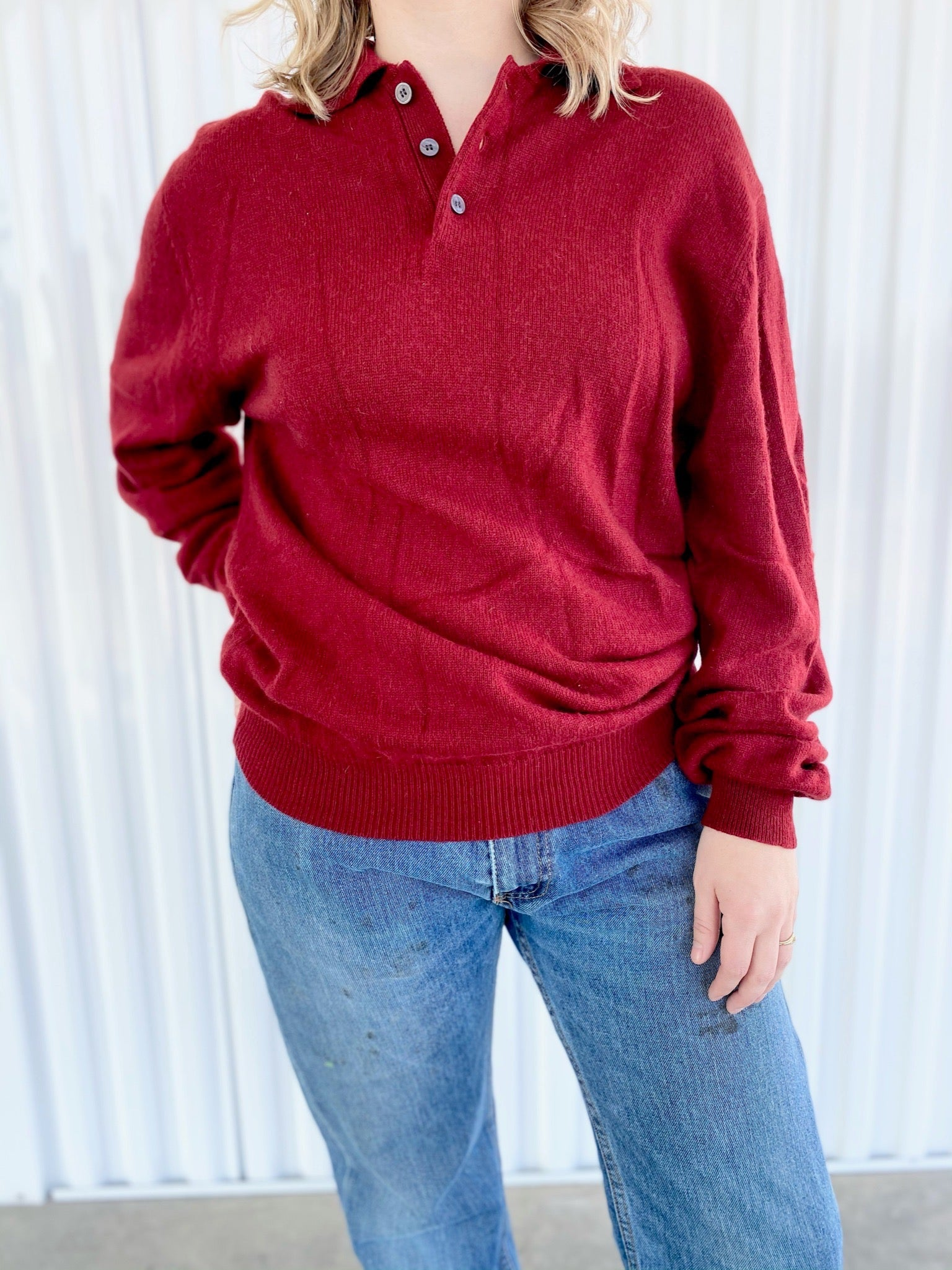 Cashmere Sweater with Collar