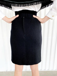 Chanel Lined Pencil Skirt (36)
