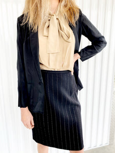 Silk Blazer with Shoulder Pads (12)